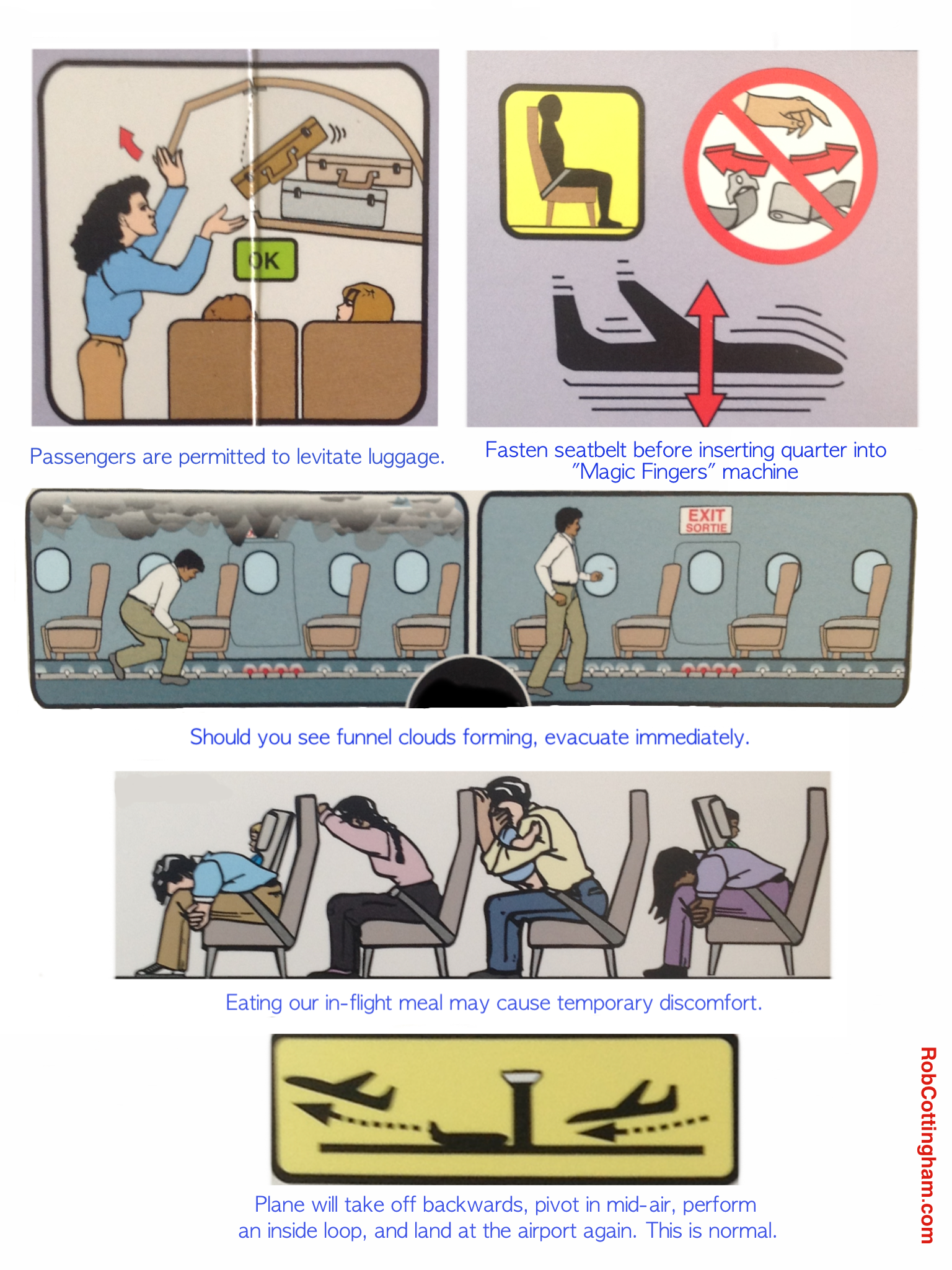 airplane safety instructions funny