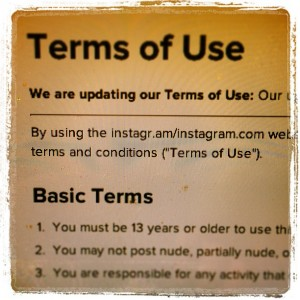 Instagram terms of use
