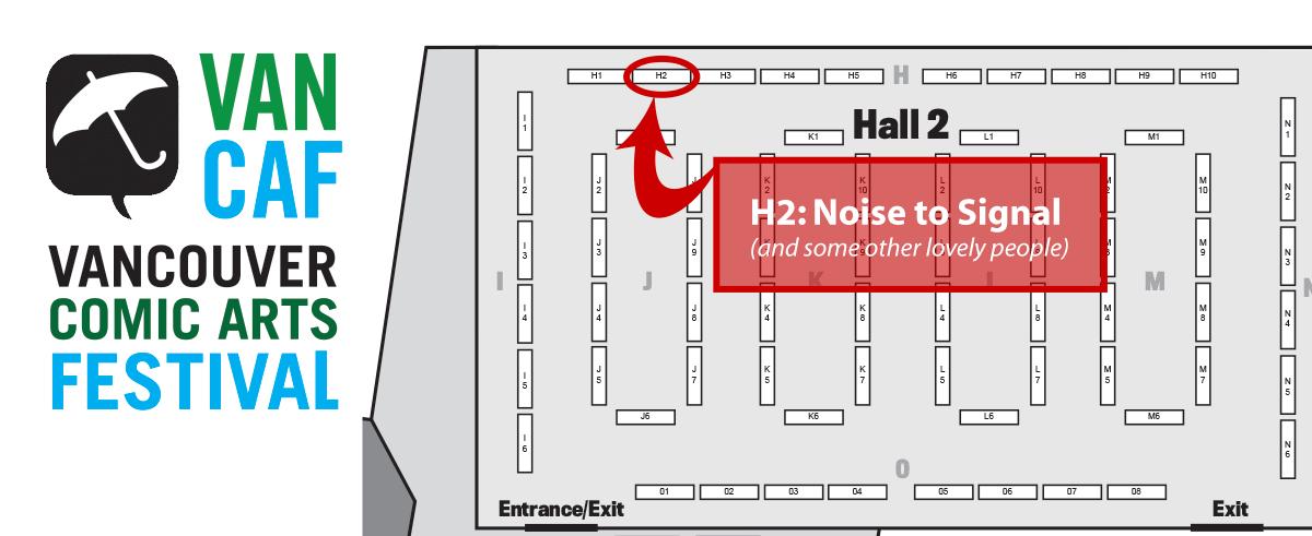 VanCAF floor map - table H2